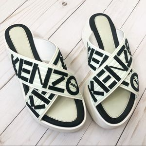 Kenzo Platform Slip On Sandals Size 37